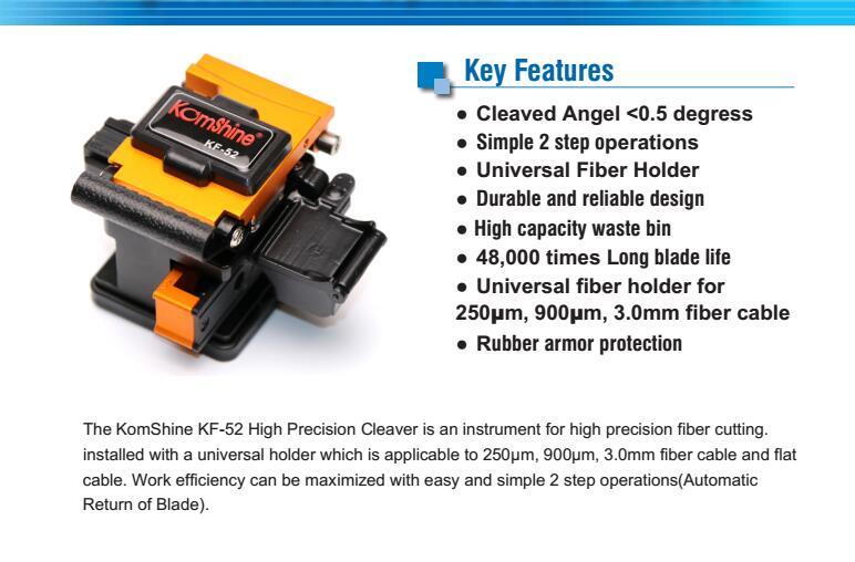 Komshine KF-52 high precision optical fiber cleaver cortadora fibra optica