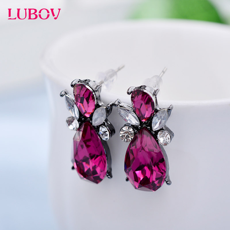 14 Colors Promotion New Design Stud Earrings Resin Stone European