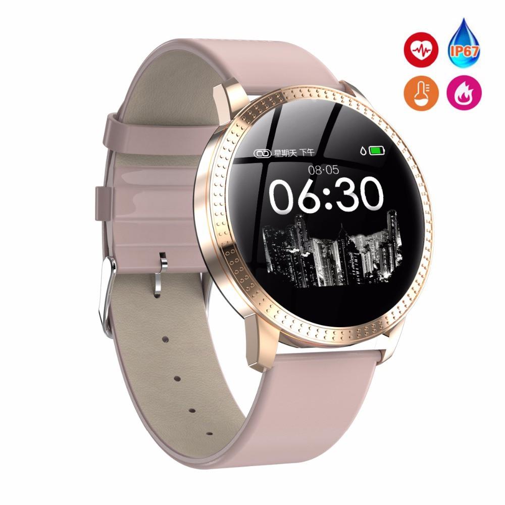 Female Fitness Smart Watch Women Running Reloj Heart Rate Monitor Bluetooth Pedometer Touch Intelligent Sports Watch for Running(China)