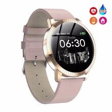أنثى اللياقة البدنية ساعة ذكية المرأة تشغيل Reloj مراقب معدل ضربات القلب مقياس مسافة السير بالبلوتوث اللمس ساعة رياضية ذكية لتشغيل