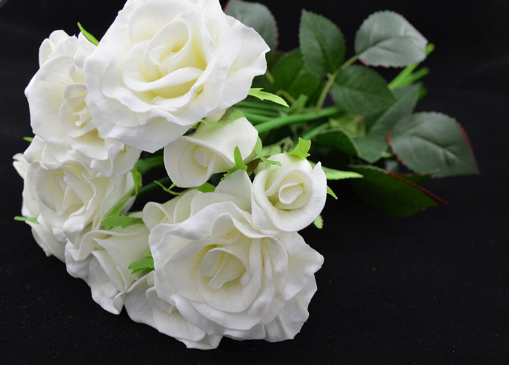 buy new real touch natural touch pu flowers roses wedding bouquets with stems. Black Bedroom Furniture Sets. Home Design Ideas