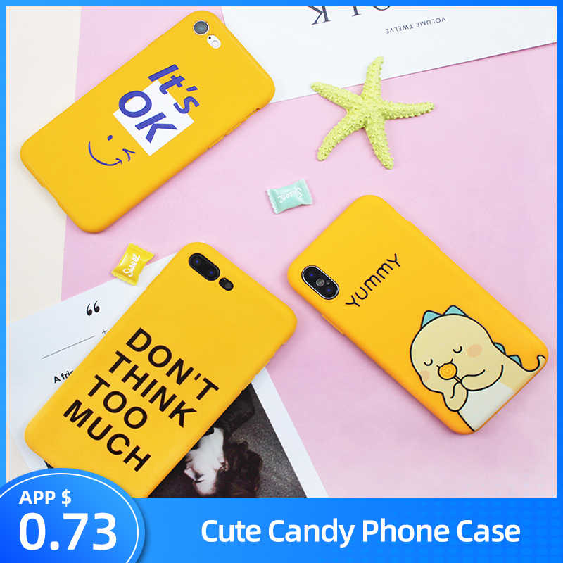 KSTUCNE Cute Case On For iPhone 6 6s 7 8 Plus TPU Silicone Back Cover For iPhone X 8 7 6 6S Plus Fashion Funny Matte Soft Cases