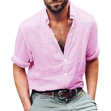 b8cb1a0a7d3 Mens Beach Shirt Tropical Summer Long Sleeve Shirt Men Brand Clothing Casual  Loose Cotton Button Down
