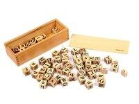送料無料!子供事前モンテッソーリおもちゃ62ピースアルファベット木製ブロックナチュラルabcブロック知育玩具ギフ