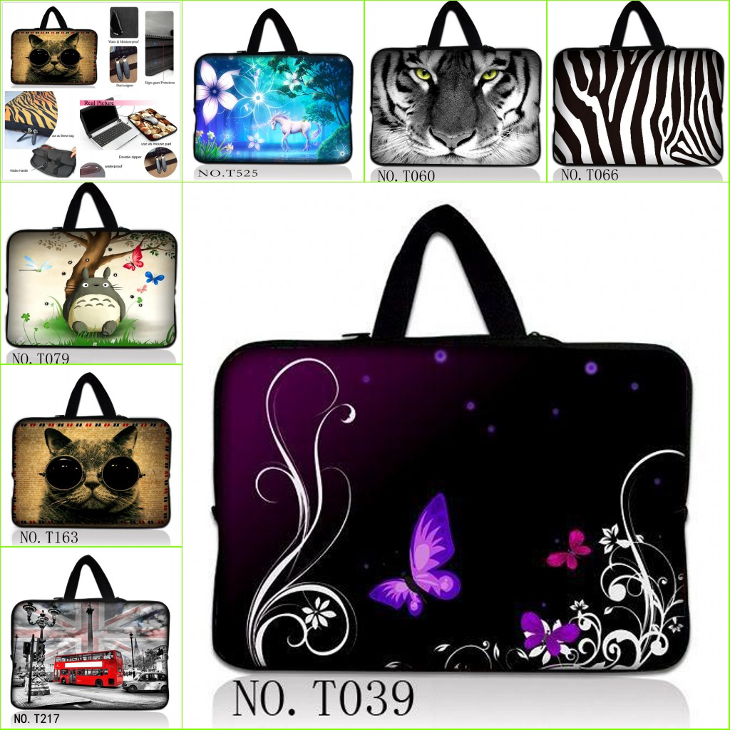 Fashion Brand Hot Selling 10 10.6 11 12.1 13 13.3 14.1 15 15.6 17 17.3 Inch Notebook Laptop Sleeve Bag Case +Hide Handle