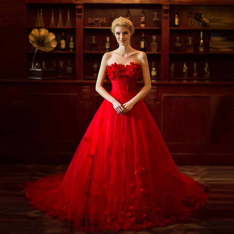 Aliexpress.com : Buy New Arrival Red Wedding Dresses 2015 ...