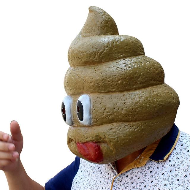 Funny Poop Emoji Mask