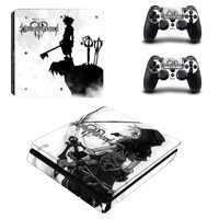 PS4 piel delgada Reino corazones 3 Pegatina Estación de juego 4 pegatinas delgadas calcomanías Pegatina para PlayStation4 consola delgada y controlador