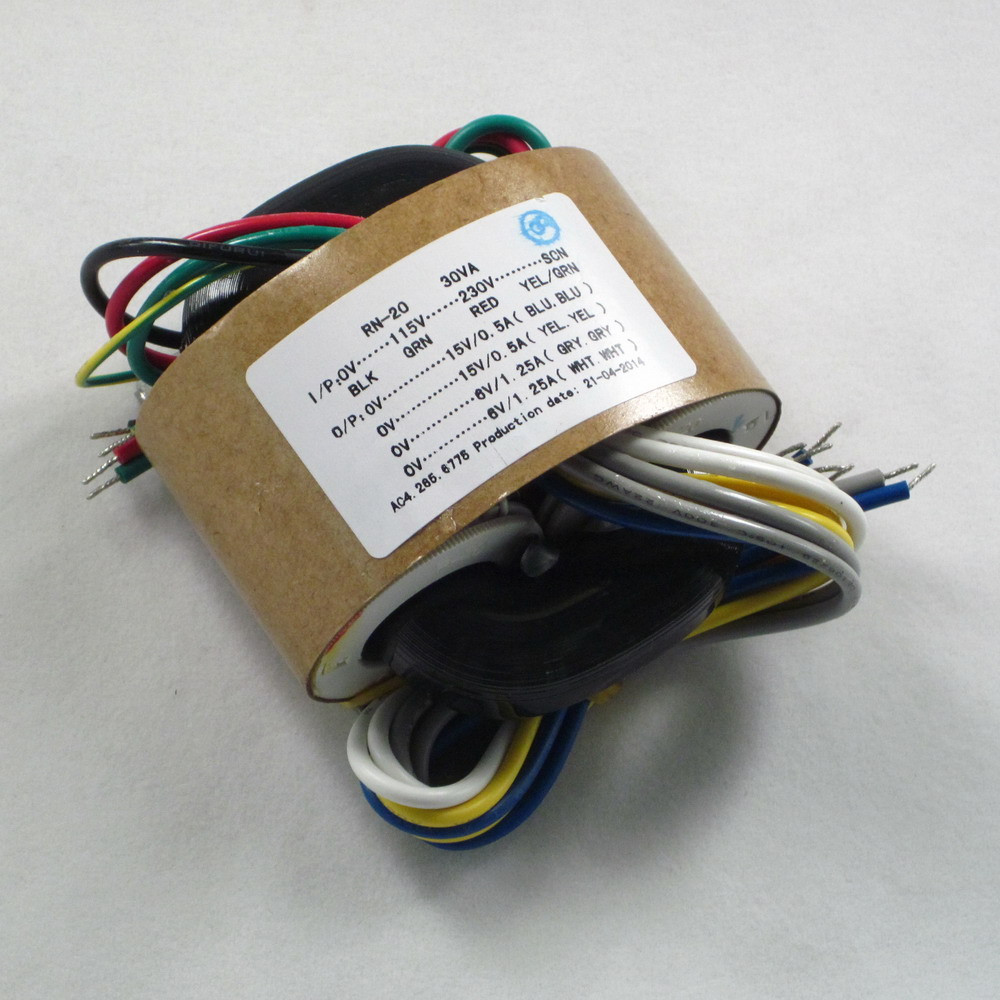 1pcs <font><b>220V</b></font>/115v 30W R-Core Transformer for amplifier preamp dac <font><b>6V</b></font>*2 +15V*2 image