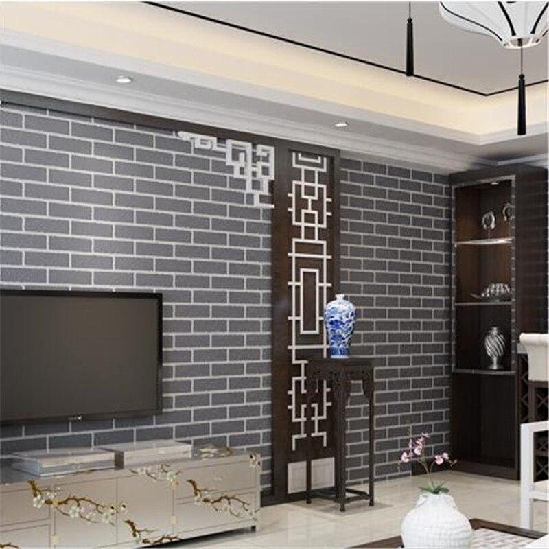 Beibehang Clothing Shop Bedroom Bricks Wallpaper Living Room 3d Non