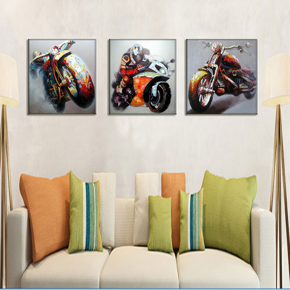 race car driver wall art motorcycle pictures handmade oil painting on canvas abstract hang. Black Bedroom Furniture Sets. Home Design Ideas