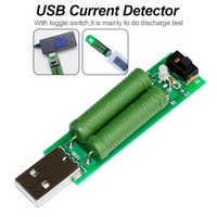 1pc USB Resistor DC Electronic Load With Switch Adjustable Current 5V1A/2A Battery Capacity Voltage Discharge Tester