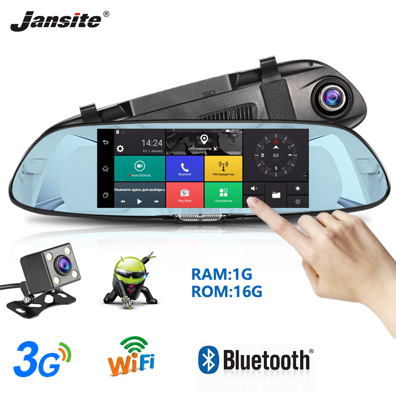 Janiste 7 FHD Touch Screen Car DVR Dash Cam 3G network Android GPS Navigation Bluetooth FM