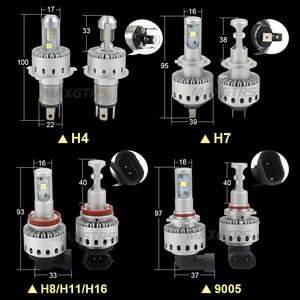 Image 2 - 2x CREE CHIP XHP50 Car Headlights H4 H7 LED H8/H11 HB3/9005 HB4/9006 8000lm Auto Front Bulb Automobile Headlamp 6000K Lighting