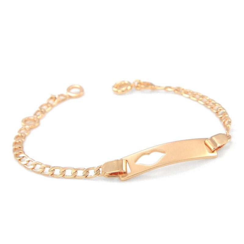 17cm Baby Bracelets Gold Kids Jewelry Bracelet Bebe Bangle Pulsera Bracelete Bracciali Ninas S Boys Braclet