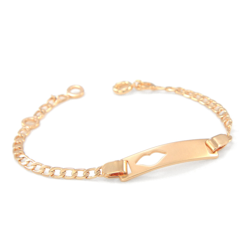 17CM Baby Bracelets Gold Kids Jewelry Bracelet Bebe Bangle Pulsera