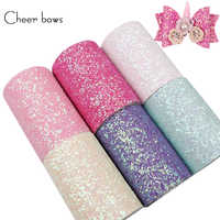 Cheer bow Chunky Glitter Ribbon Candy Shiny Glitter Ribbons For Crafts DIY Hair bows Accessories Apparel Sewing 75mm 1 yards