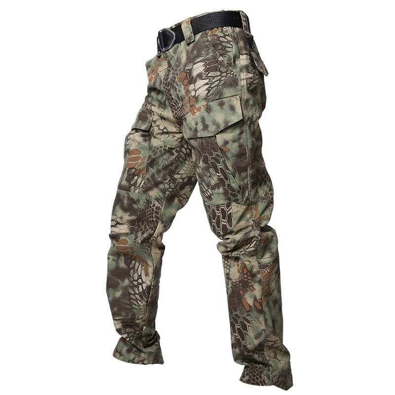 Military Camouflage Waterproof Camouflage Tactical Pants War Game Cargo Pants Mens Pants Trousers Army Military Active Pants