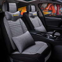 Universal Flax fiber car seat covers auto seats covers For Citroen c1 celysee ds3 c4 c3picasso c4picasso grand c4 picasso