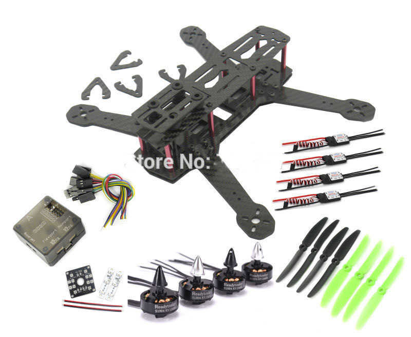 Xiangtat Pure Carbon Fiber ZMR250 Quadcopter frame CC3D 1804 Motor CC3D Distribution Board LED 20A Simonk ESC rcmall for qav250 250mm quadcopter pure carbon fiber frame arf cc3d flight controller emax motor simonk 12a esc diy kit dr0717