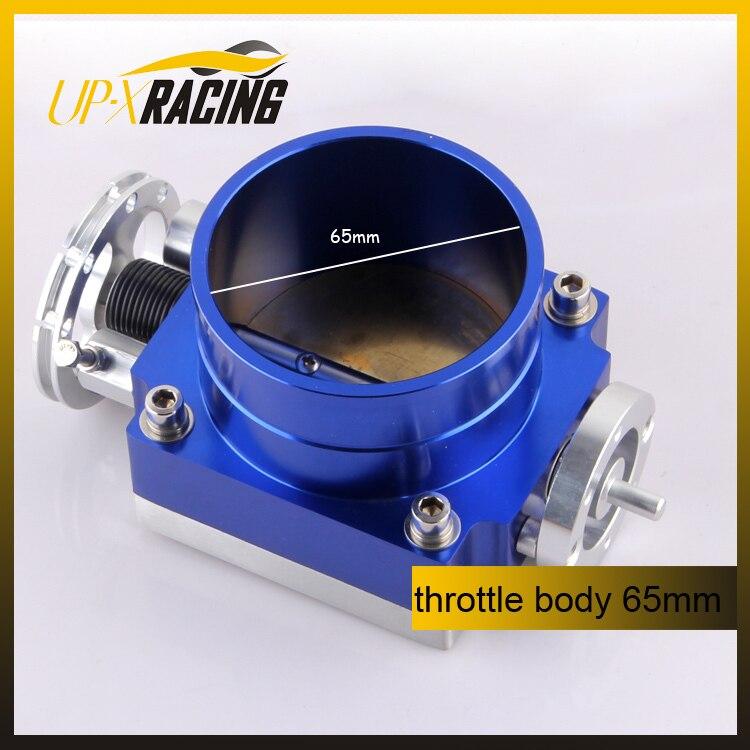 Universal Aluminum Alloy CNC Billet Air Intake Intake manifold Throttle Body 65mm cnc billet aluminum front