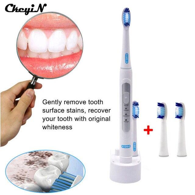 CkeyiN Индуктивный Зарядки Sonic Электрическая Зубная Щетка Водонепроницаемый Электрической Зубной Щетки Глава 4 Зубная Щетка Аккумуляторная Для Детей Взрослых