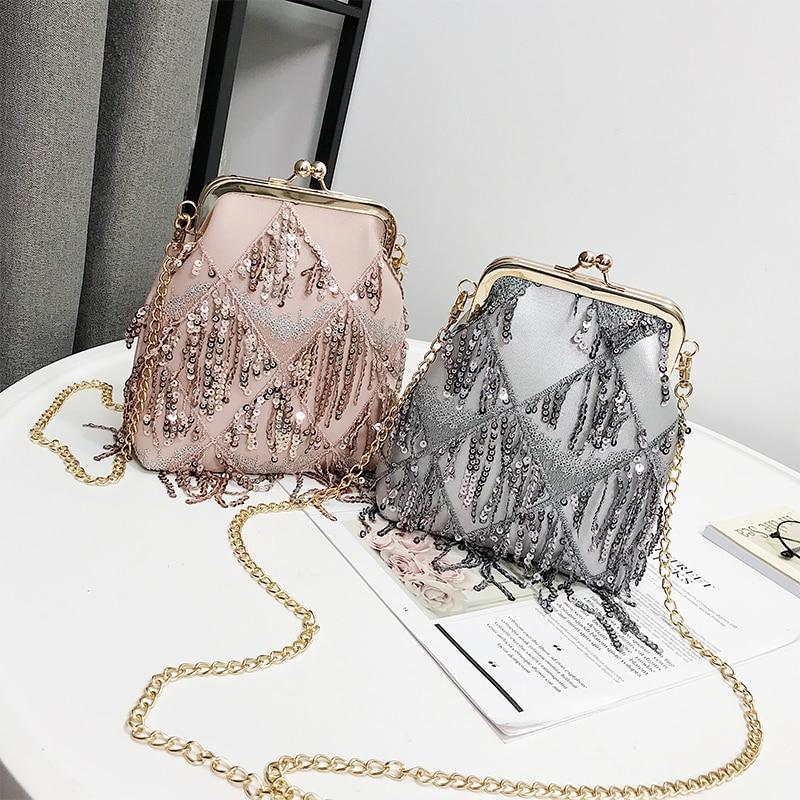 Nappa Delle Le Lusso Borsa Main Black Tracolla Di Progettista Borse A Sac Per 2018 Della pink silver Catena Donne Crossbody Plaid Cuoio Del tqpwT7x8S