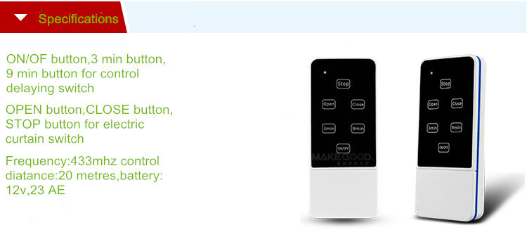 Smart electric curtain remote control switch-1