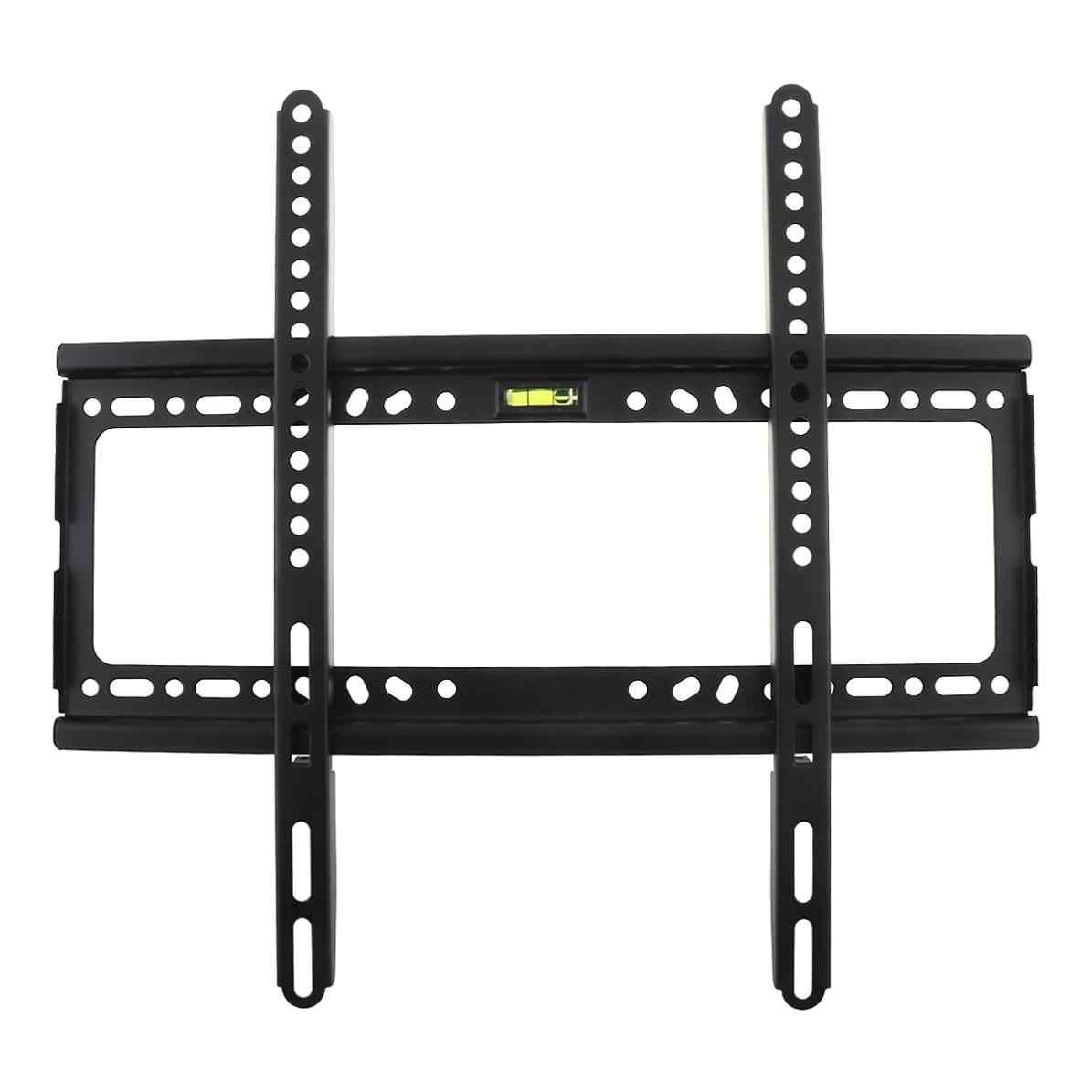 32-55 مؤشر LED LCD بالبوصة رصد شقة عموم العالمي 45 كجم من نوع ثابت رف لتثبيت التليفزيون على الحائط شقة شاشة تلفزيون مسطحة الإطار مع مستوى