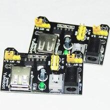 2 шт. Питание модуль для Arduino Starter Kit электроники MB102 MB-102 Solderless Макет 3.3 В 5 В Мощность доска DIY модуль