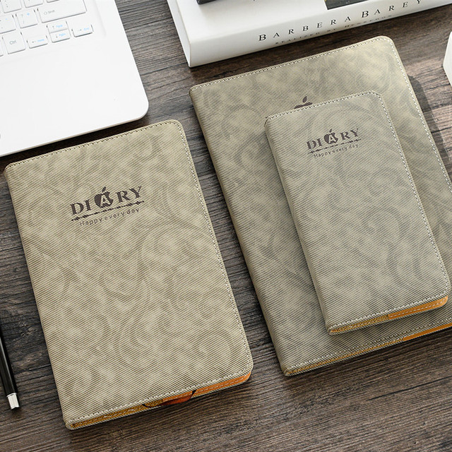 cheng jia brand thick notebooks writing pads leather business cambridge aesthetic diary journals travelers creative stationery