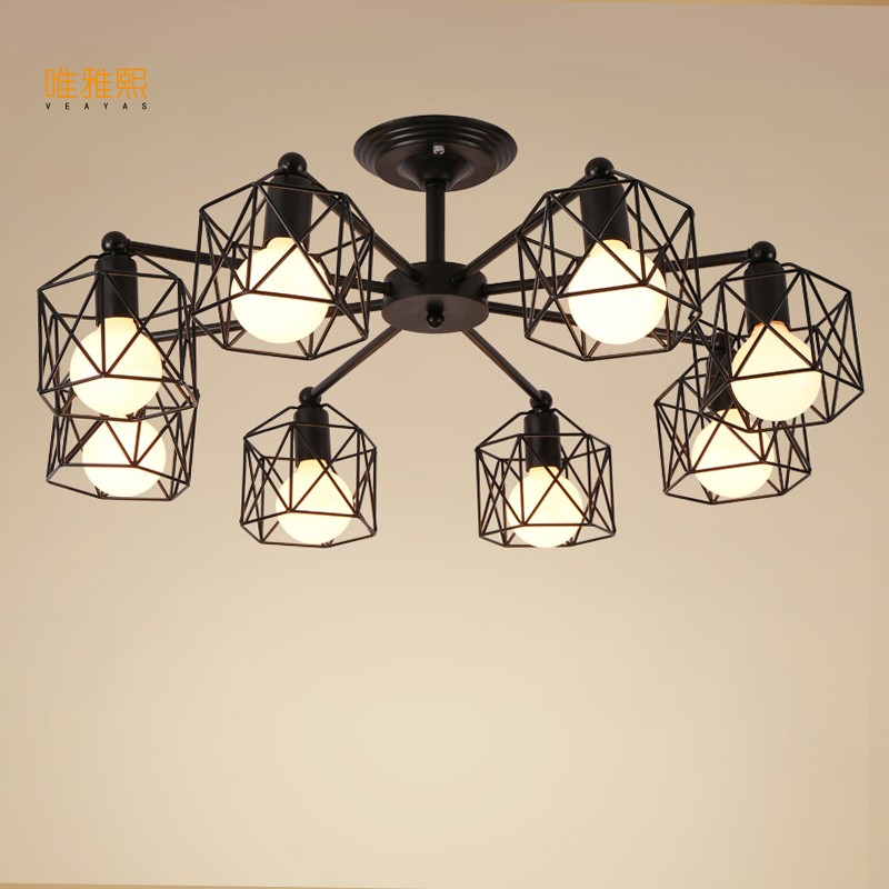 Mordern Retro Bulb Light Chandelier Vintage Loft Antique Art Ceiling Lamp Fixture Light mordern nordic retro edison bulb light chandelier vintage loft antique adjustable diy e27 art spider ceiling lamp fixture lights