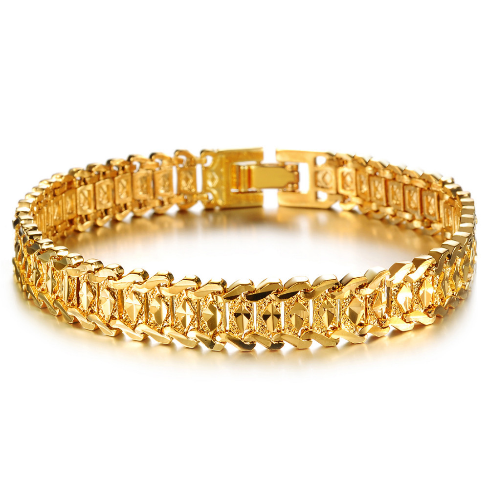 mens gold bracelet links images