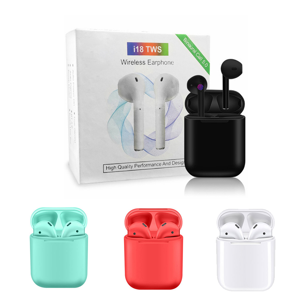 10 PCS <font><b>i18</b></font> <font><b>TWS</b></font> <font><b>Touch</b></font> mini wireless Earbuds <font><b>Bluetooth</b></font> <font><b>5.0</b></font> <font><b>Headphone</b></font> <font><b>Touch</b></font> <font><b>Control</b></font> <font><b>Bluetooth</b></font> Automatic Pairing Earbuds image