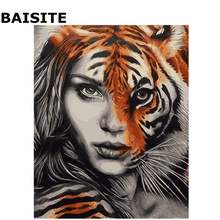 BAISITE DIY Acrylic Painting By Numbers Hand Painted Canvas Modern Wall Picture For Living Room Home Decor Wall Art E674(China)