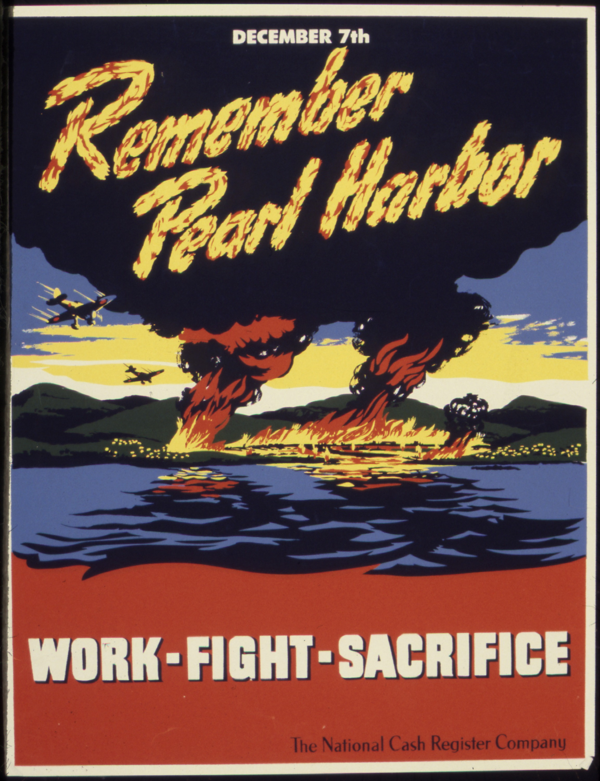 WW2 America Pearl Harbor Battle Propaganda Poster Vintage Retro Canvas DIY Wall Paper Posters Home Gift Decoration In Stickers From
