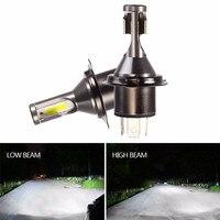 2 Pcs H4 LED Headlight Bulbs Conversion Kit LED H4 Lamps for Cars 6000K 26000LM Bright Fog Light Bulb 110W 12V 24V for Auto
