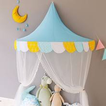 Kids Teepee Tents Children Play House Cotton Bed Tent Canopy Foldable Crib Tent Baby Room Decor Birthday Gifts Photography Prop(China)