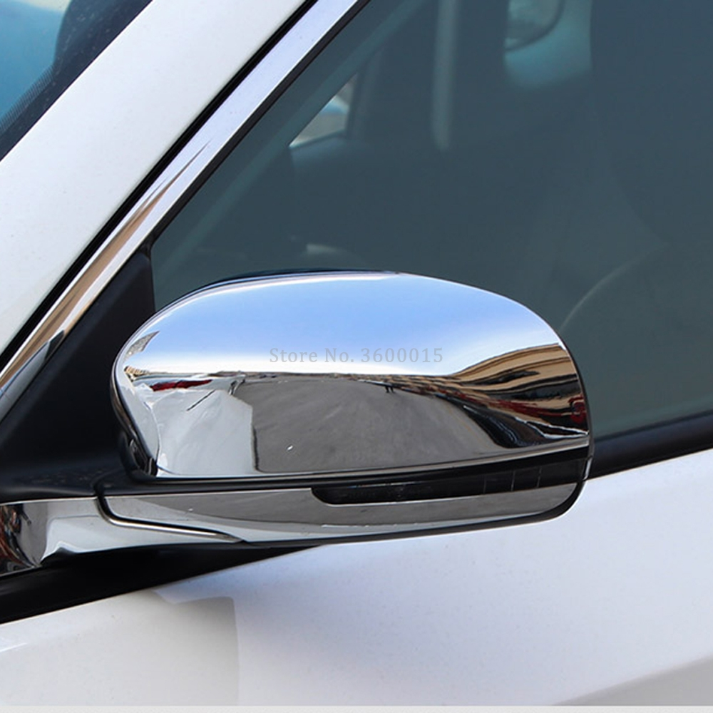 For Jeep Compass 2017 2018 2019 Car Styling Parts Side Wing Mirror Covers Chrome Molding Trim Exterior Decoration Accessories