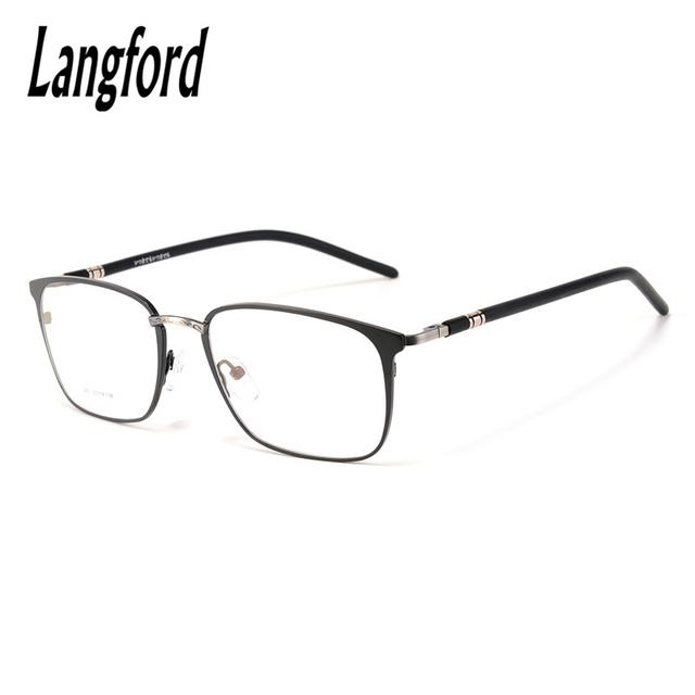 Homens do vintage armações de óculos luneta femme projetos grande hipster óculos de armações de óculos óptica altura 43mm 020