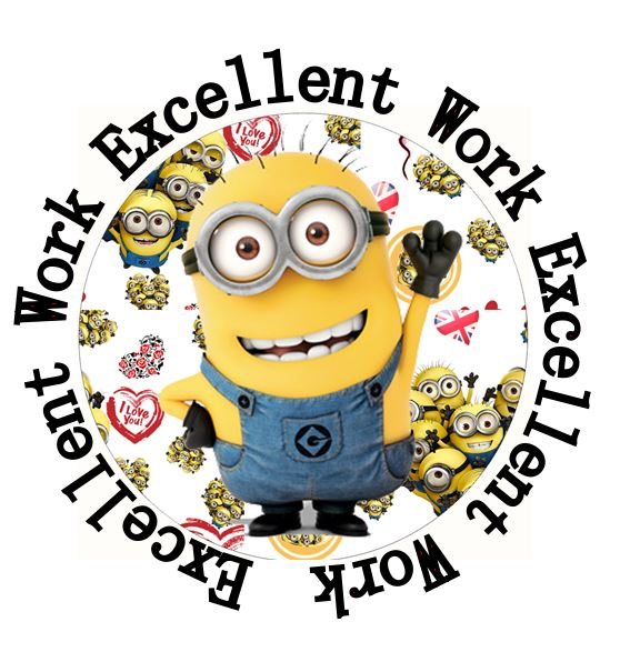 35 round minion 35 mm teacher rewards stickers for student project kid motivation rewards normal in stickers from toys hobbies on aliexpress com