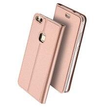 Для Huawei P10 Lite P10 Plus Роскошные Тонкий флип кожаный сплошной цвет Бумажник Стенд Защитная крышка телефон Huawei P10 Lite случаях