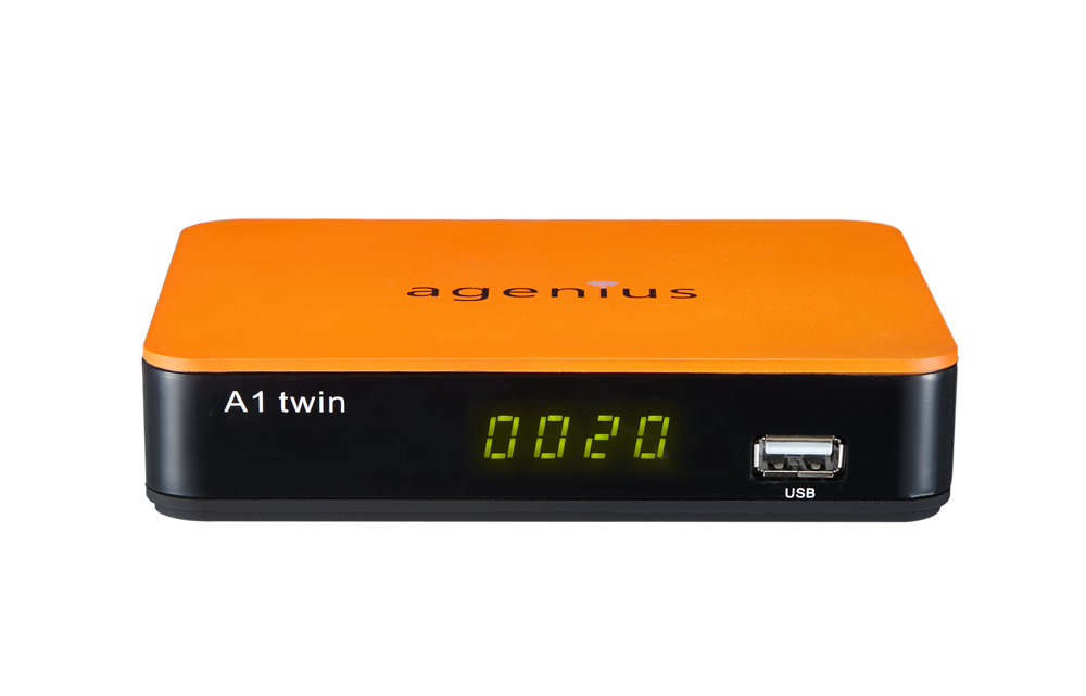 Hot selling digital satellite receiver Agenius A1 twin with free ACM SKS  IKS CS YOUTUBE POWERVU for South America