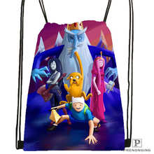 Custom adventure-time   Drawstring Backpack Bag Cute Daypack Kids Satchel (Black Back) 31x40cm#2018611-2(17)