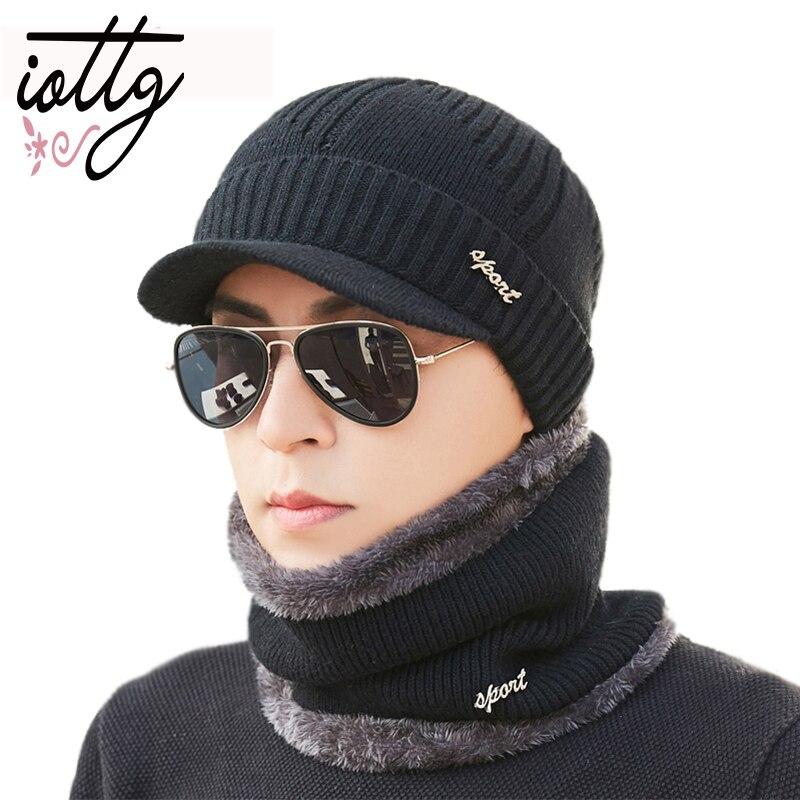 IOTTG Winter Hat   Skullies     Beanies   Hat Winter   Beanies   For Men Women Wool Scarf Cap Balaclava Mask Gorras Bonnet Knitted Hats