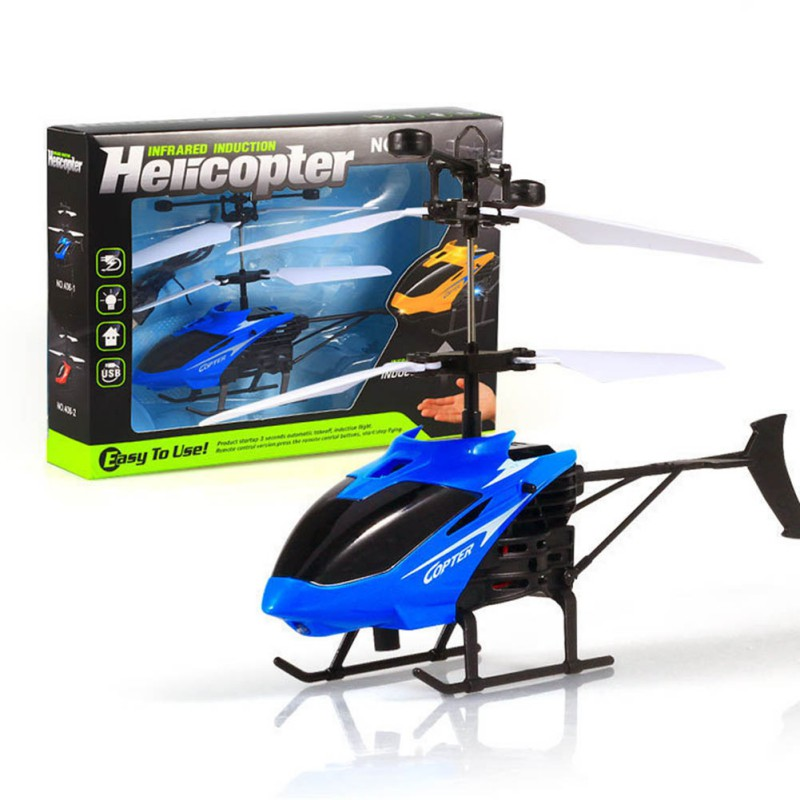 Kids Baby Toys RC Gyro With 3D Mini Charging USB Helicoptero Cable Helicopter