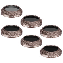 Neewer 6 Pieces Filter Kit for DJI Mavic Pro Drone Quadcopter:CPL/ND8/ND16/ND32/ND8/PL+ND16/PL Lens Filters Optical Glass