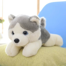 lovey gray husky about 35 cm soft toy dog plush toy, birthday gift x138