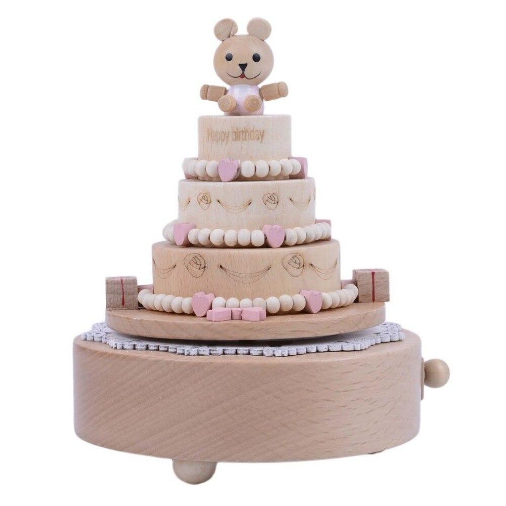 popular bear drop box buy cheap bear drop box lots from china bear wooden handicraft cute birthday cake bear design music box christmas wedding birthday gift home decor drop