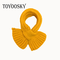 TOYOOSKY 2017 New Fashion High Quality Winter Solid Color for Children Scarf Kids Boy Girl Warm Knitting Wool Shawl Neck Warmer